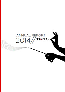 TONO annual report 2014 cover