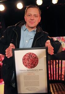 Tommy Tee er tildelt TONOs Formidlerpris 2014.