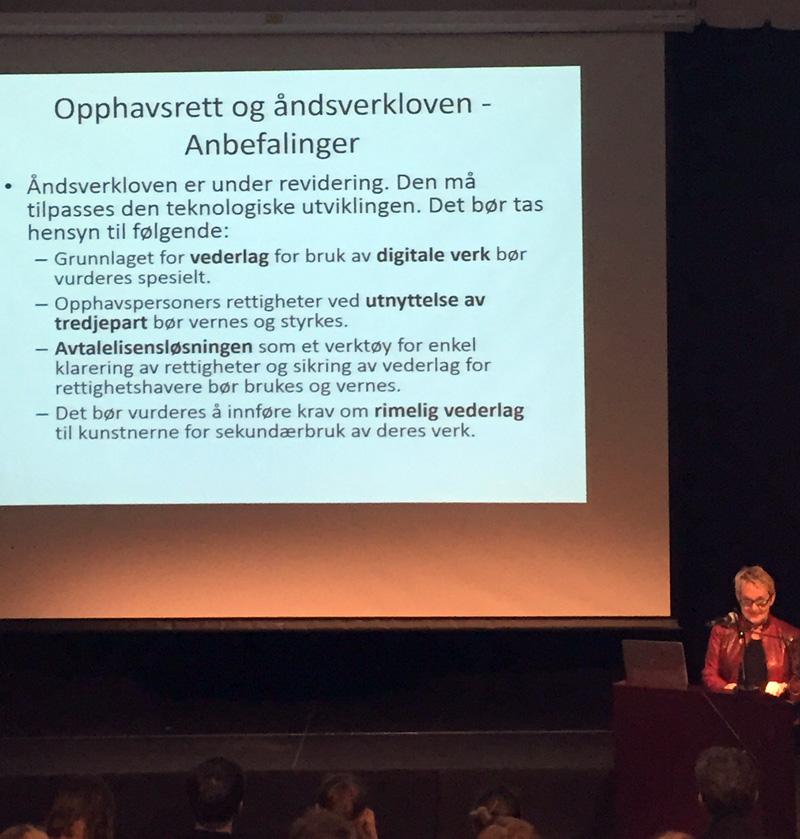 """Vigdis Moe Skarstein har ledet arbeidet med rapporten """"Kunstens autonomi og kunstens økonomi"""" som ble offentliggjort 28. januar 2015."""