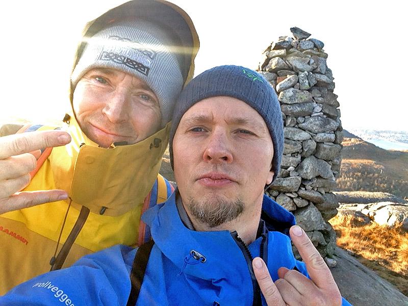 Morten Abel og Arne Hovda. (Foto: Privat, sjølfie)